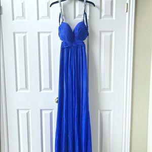 ⚜️🔹Stunning Royal Blue Maxi Prom Dress 🔹⚜️